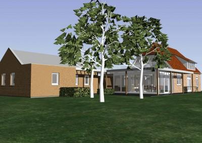Uitbreiding woonhuis en garage Heteren