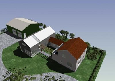 Uitbreiding woonhuis en herindeling perceel Homoet
